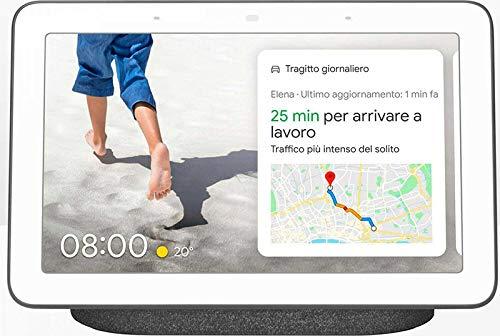 "Google Nest Hub, Asistente digital, Pantalla 7"", Wi-Fi, Carbón- Amazon"