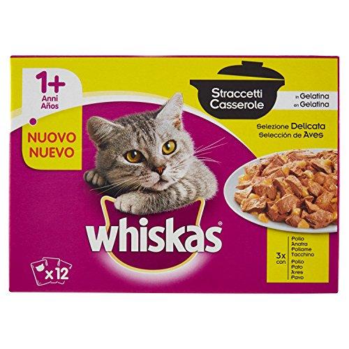 whiskas Multipack De 12 Bolsitas De 85G Casserole De Aves para Gatos Adultos 1020 g