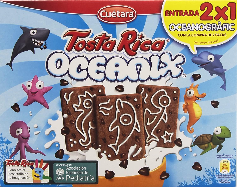 Tosta Rica Oceanix Galletas 480g