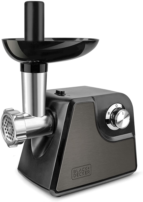 Black+Decker BXMM1000E Picadora de Carne, 1000 W, Acero Inoxidable