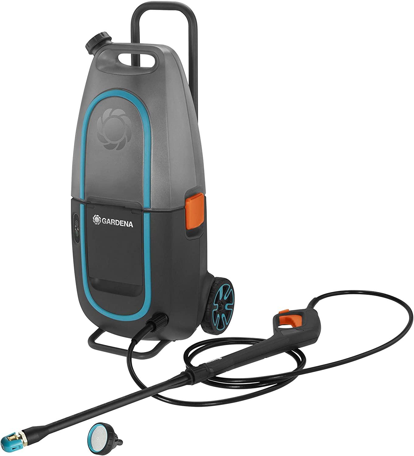 GARDENA AquaClean 9341-55 Limpiadora de alta presión Li-40/60 sin batería, limpiador de superficies para exterior
