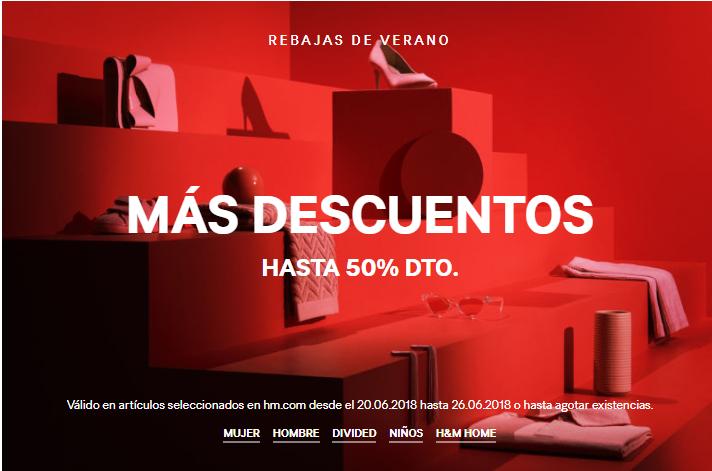 H&M MÁS DESCUENTOS HASTA 50% DTO.