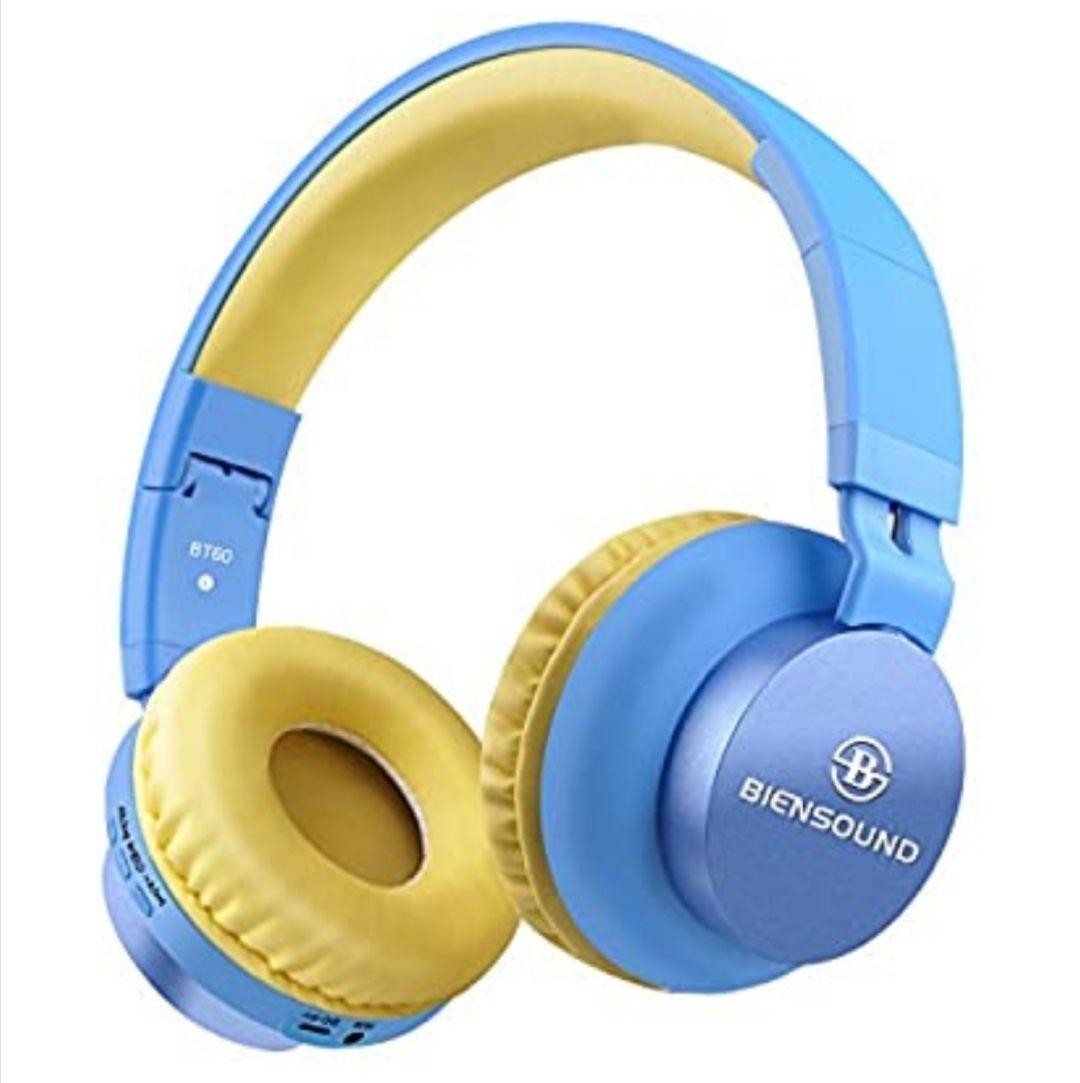 Auriculares Bluetooth, Biensound BT60, plegables y ligeros, auriculares con micrófono y control de volumen