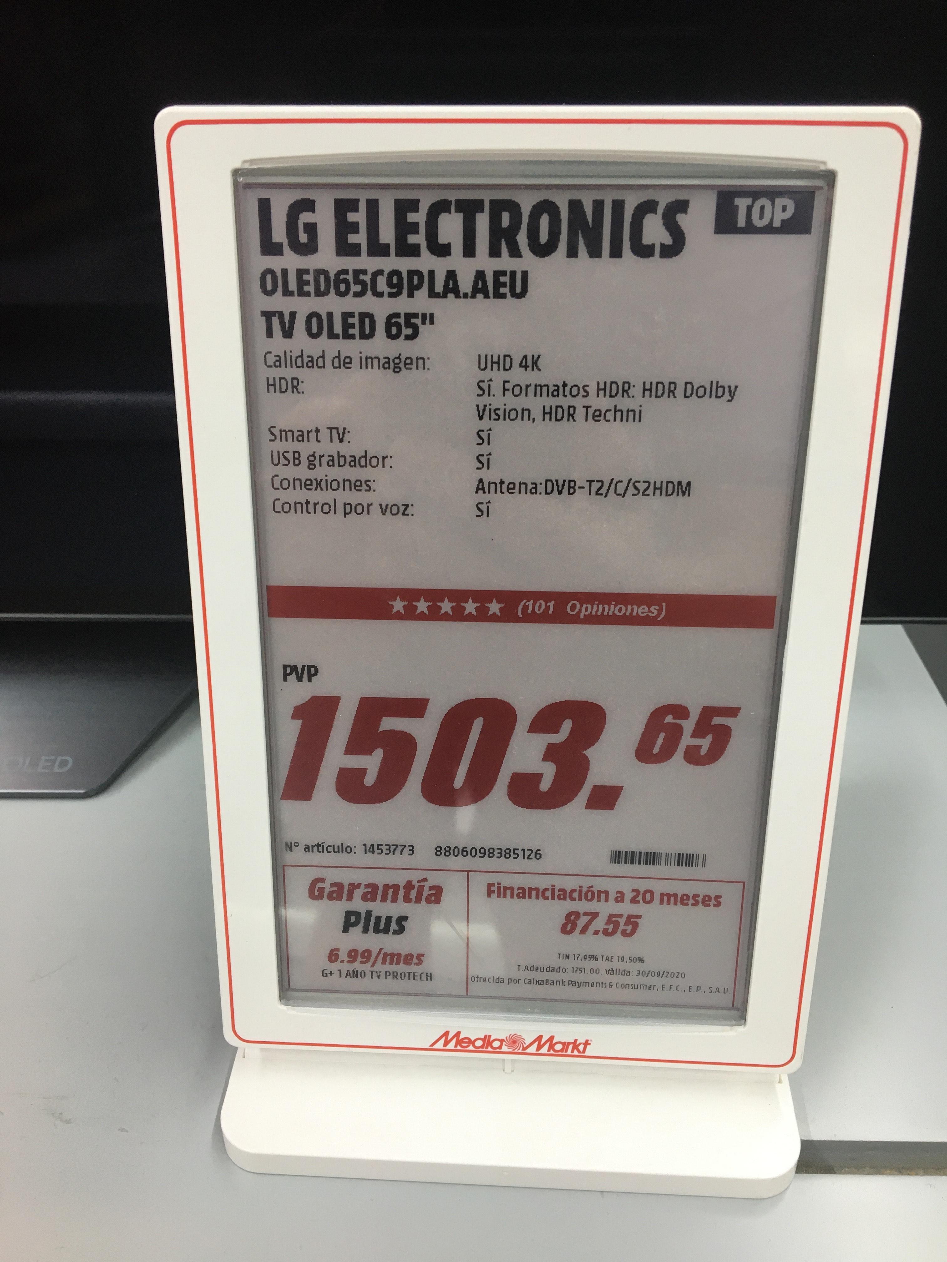 LG OLED C9 65C9PLA
