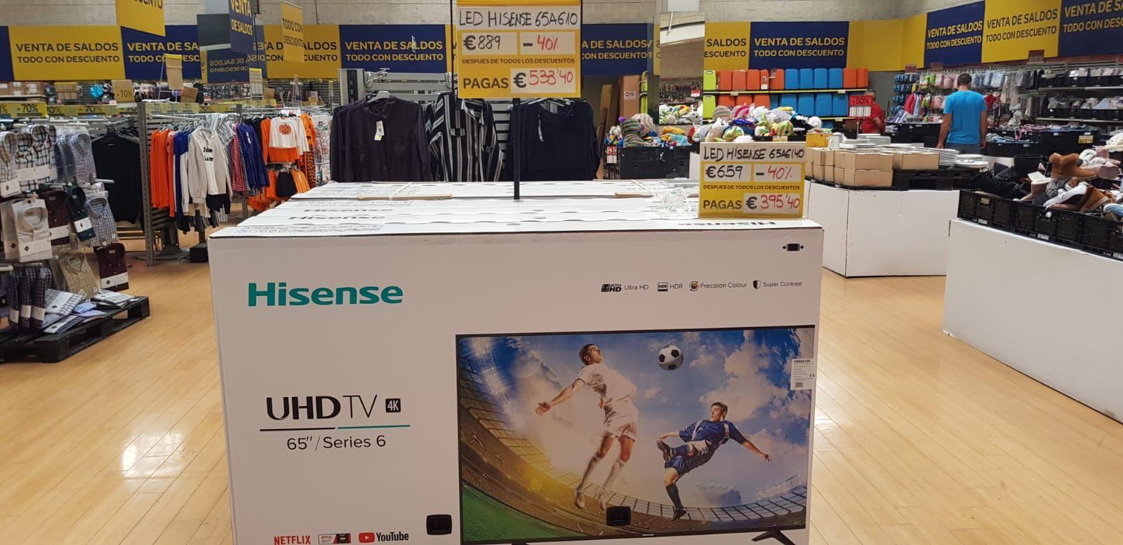 """TV 65"""" Hisense en Carrefour del centro comercial atalayas (Murcia)"""