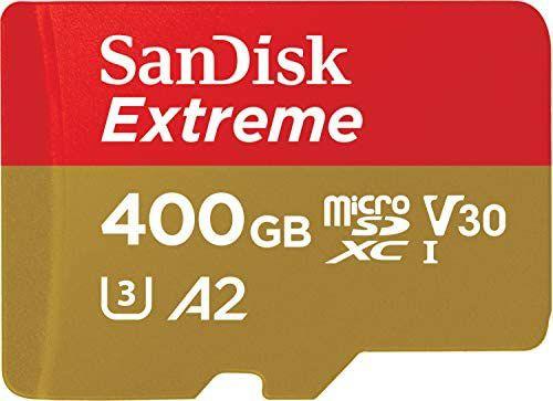 Tarjeta de memoria microSDXC SanDisk Extreme de 400 GB con velocidadades hasta 160 MB/s