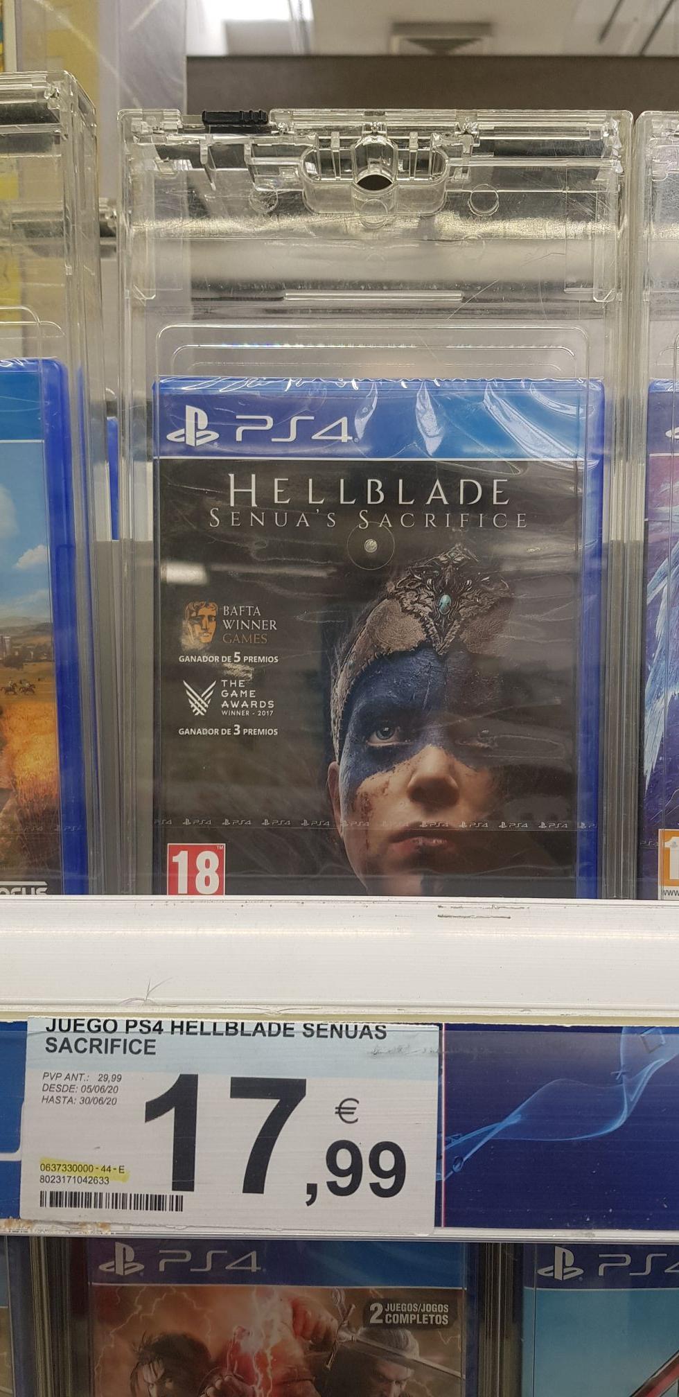 Juego Hellblade Ps4 carrefour hortaleza
