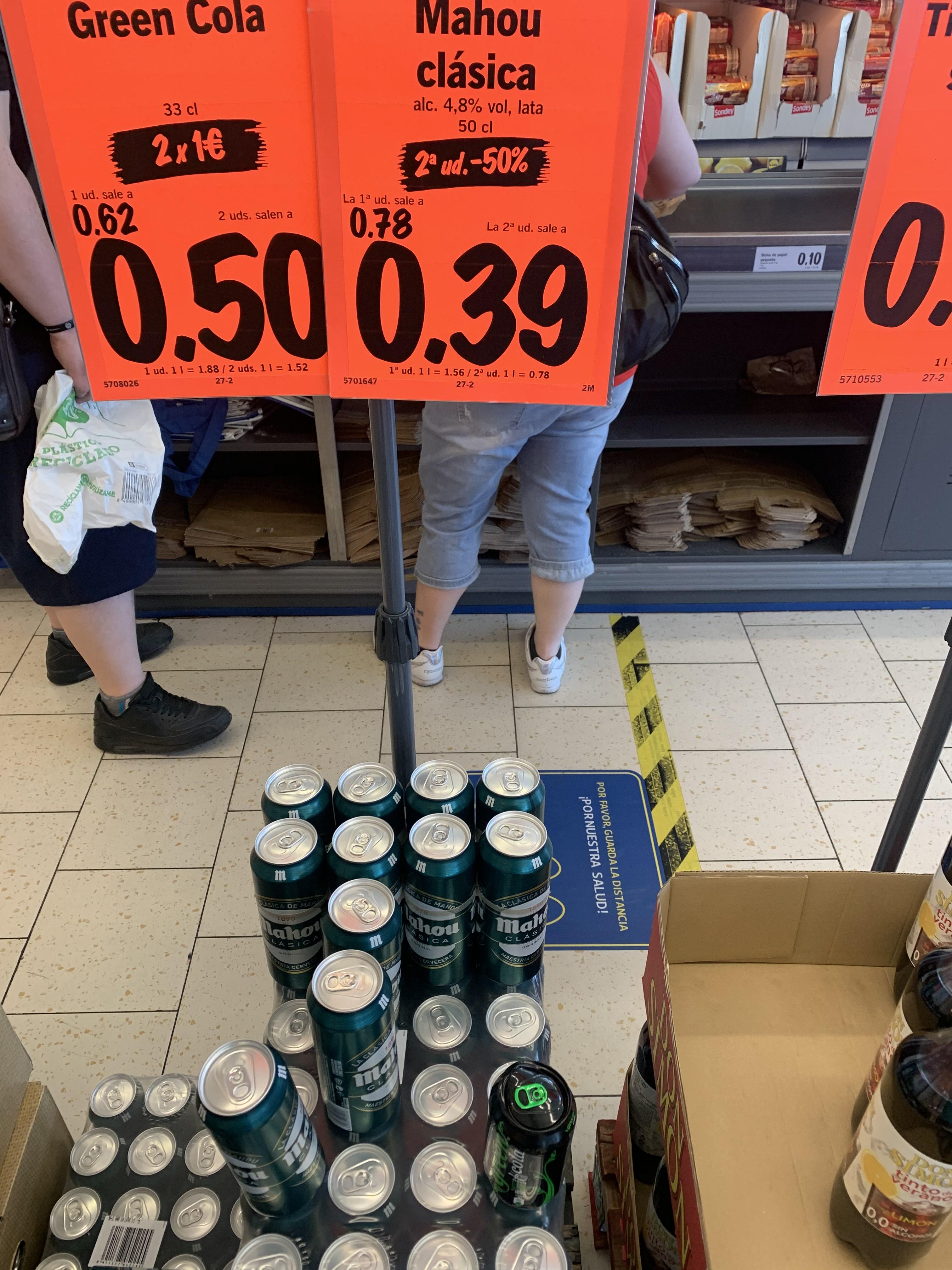 Mahou clásica 1,17€ el litro