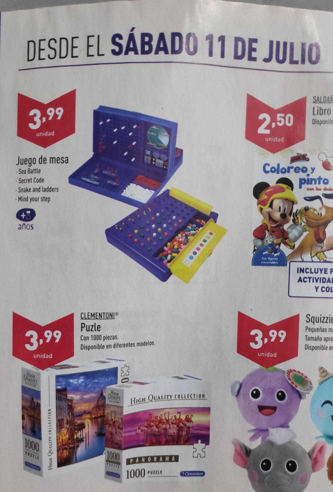 Supermercados ALDI - Puzzles Clementoni 1000 piezas