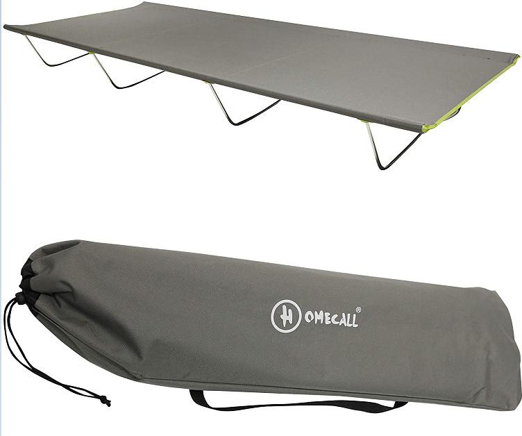 Cama plegable de aluminio para camping Homecall (120 kg.) por 27,99€ - Opción B: en Decathlon (110 kg.) por 24,99€