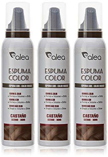 [paquete de 3] AZALEA ESPUMA COLOR #castaño 150 ml -
