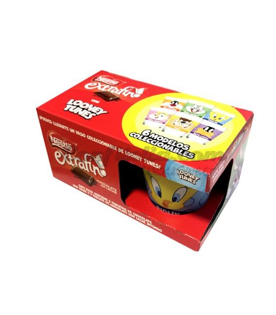 Pack 3 tabletas chocolate Nestlé + 1 vaso Looney Tunes + descuentos para 8 personas Parque Warner 50% en Supermercados ECI