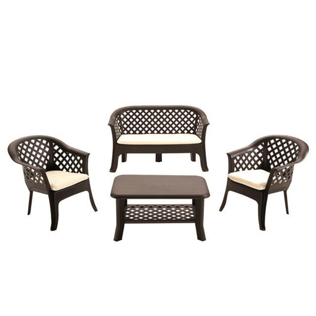 Set jardín mesa + sofá +butacas 119€