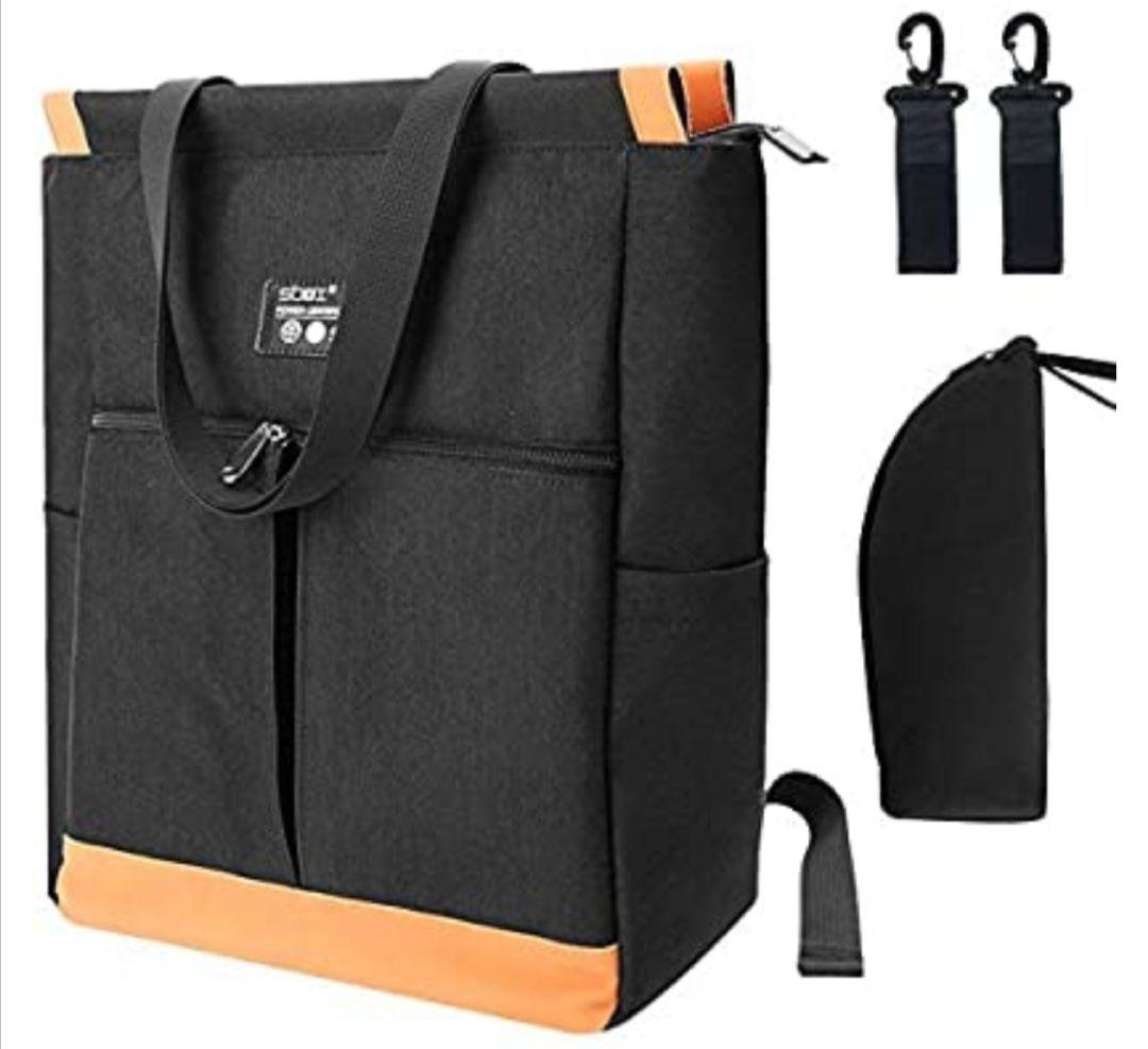 Mothor Bag Bolsa para Cambiar Pañales con Gancho y Bolsas de Aslamiento
