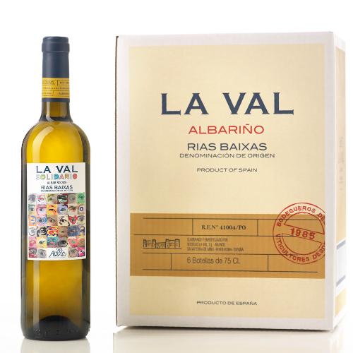 """""""La Val Solidario 2019"""" Vino Albariño Caja de 6 botellas"""