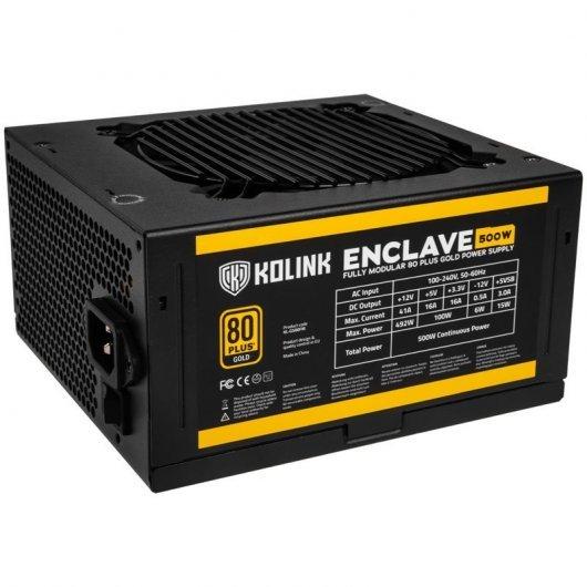 Fuente de alimentación Kolink Enclave 500W 80 Plus Gold Modular