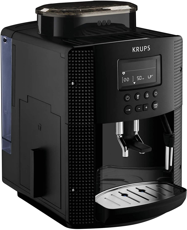 Krups Pisa EA81P0 Cafetera súper automática, 15 bares, molinillo café cónico de metal, selección de cantidad,depósito 1.7 L , pantalla LCD