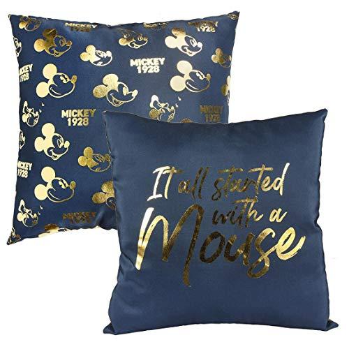 MICKEY Cerda-Cushion Premium COJIN, Azul, 30x30 cm