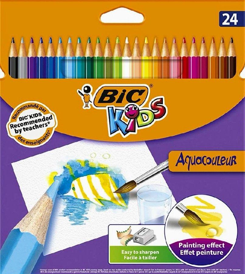 BIC Kids Aquacouleur 24 Lápices Acuarelables Efecto Pintura (Precio mínimo)