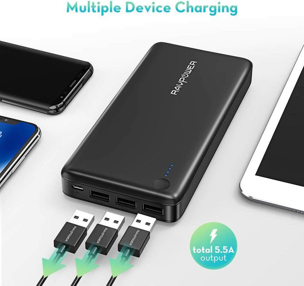 Powerbank 26800mAh 3 USB A (carga iSmart)