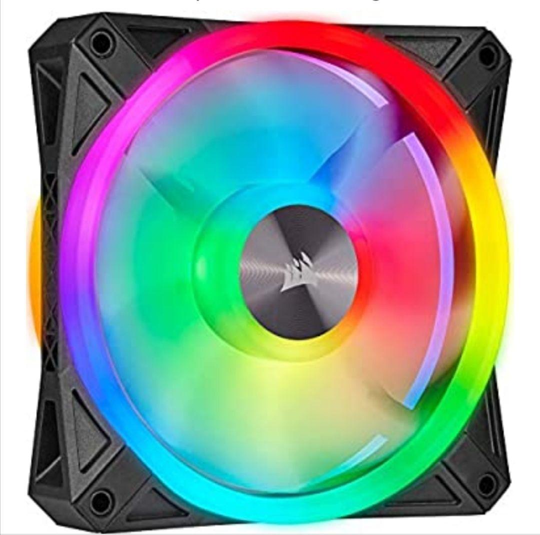 Corsair iCUE QL120 RGB, Ventilador LED RGB de 120 mm
