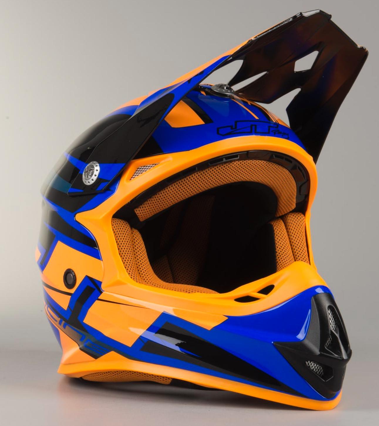 Casco de Cross JT Racing Prime Negro-Azul-Naranja