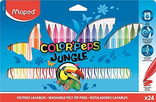 Maped Jungle - Rotuladores de Colores (24 Unidades)
