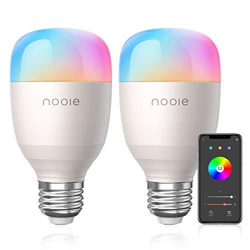 2 bombillas E27 RGB inteligentes compatibles con Alexa y Google Home