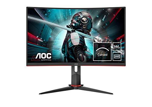 """Monitor AOC CQ27G2U/BK- Pantalla para PC Curvo de 27"""" QHD 2K, 1ms, 144 Hz, VA, FreeSync, Altavoces, VESA, HDMI"""