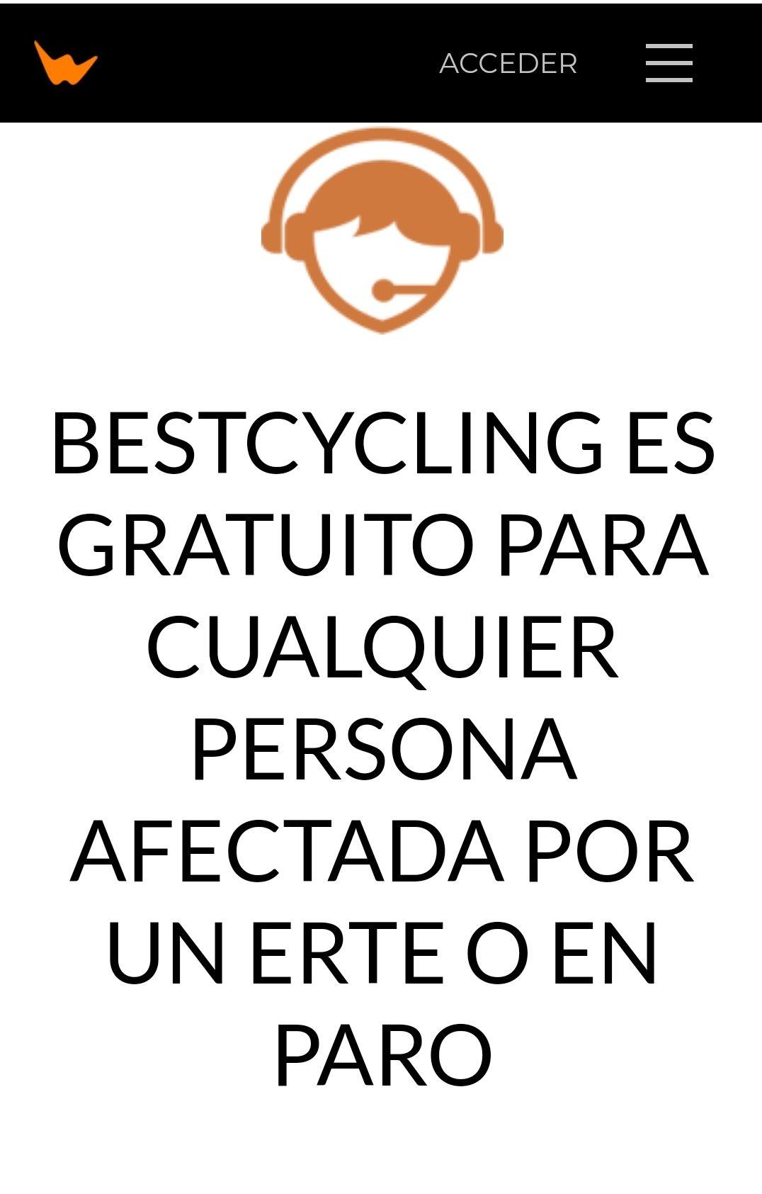 BestCycling gratis para gente en ERTE o PARO