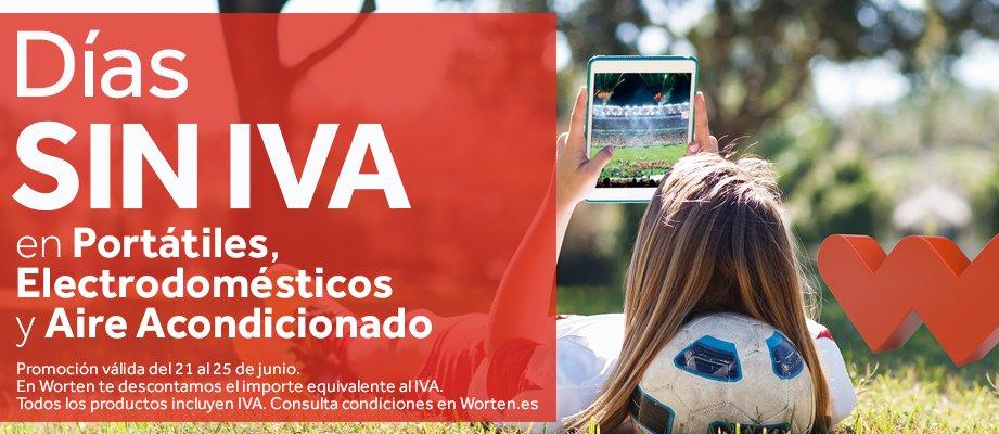 Días sin IVA en Portátiles, Electrodomésticos y Aires Acondicionados en Worten