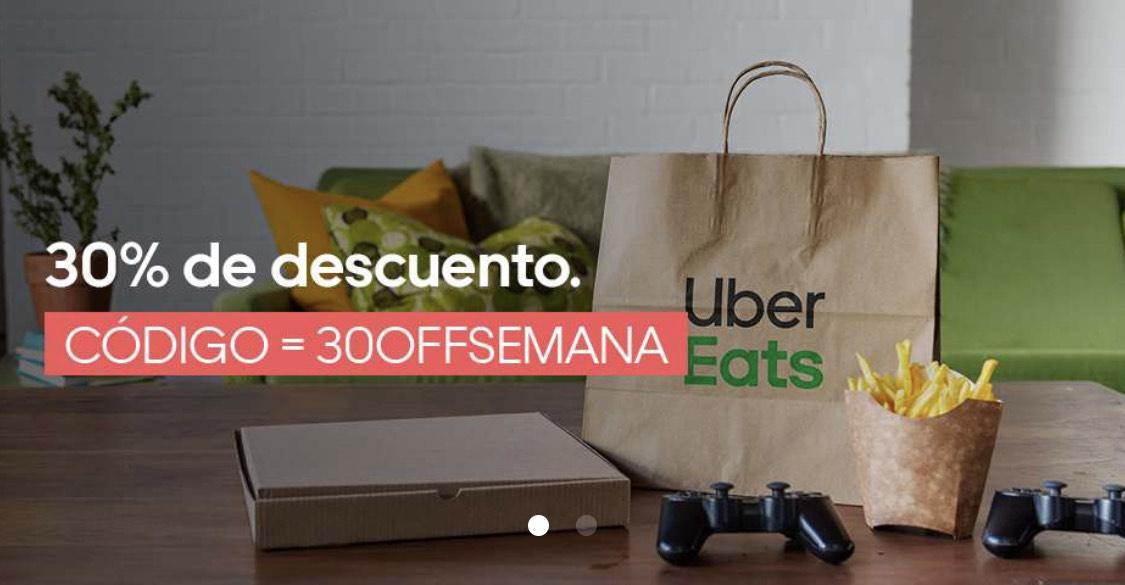 30% Descuento en Uber Eats (varias localidades)