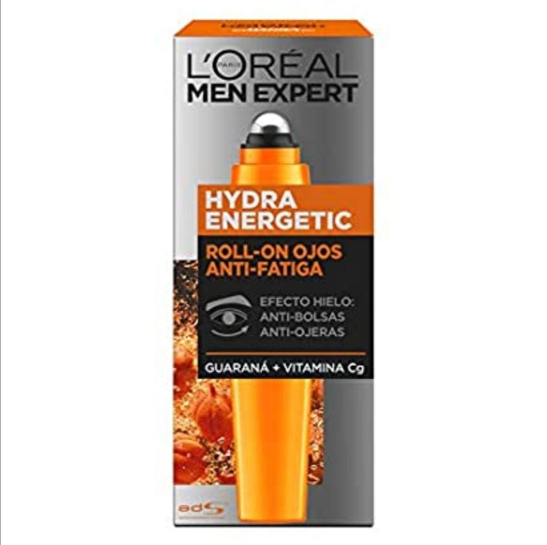L'Oréal Paris Men Expert Hydra Energetic Roll-On Ojos Anti-Bolsas + Anti-Ojeras con 2 Vitaminas - 10 ml (compra recurrente)
