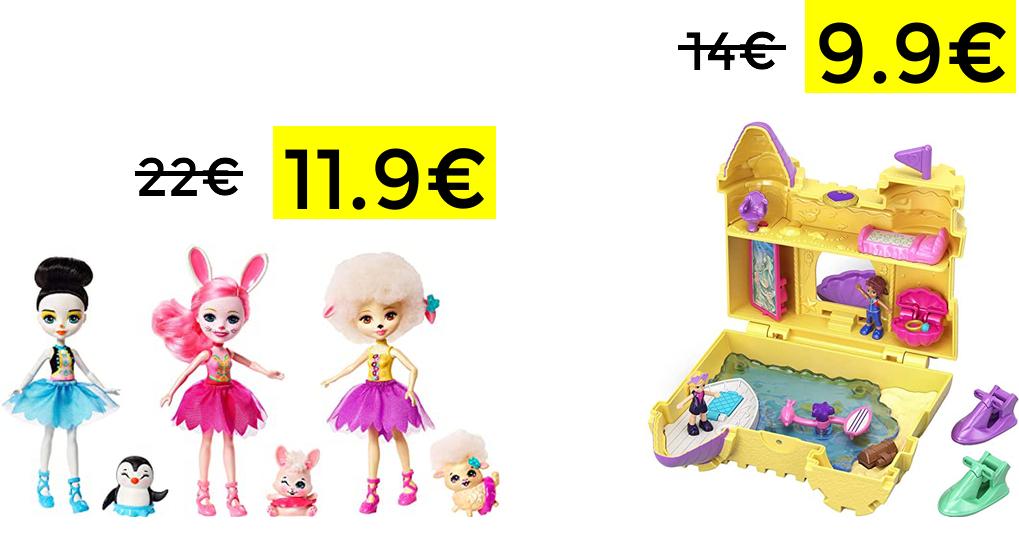 Enchantimals 3X muñecas Ballet / Castillo Polly Pocket