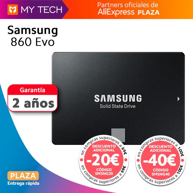 Samsung SSD 860 EVO Varios tamaños: 250GB (49€) | 1TB (139€) | 2TB (299€) - Desde España