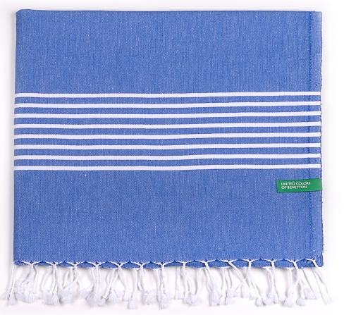 Toalla-hamman 100% Algodon Casa Benetton 80x165 Cm Azul.