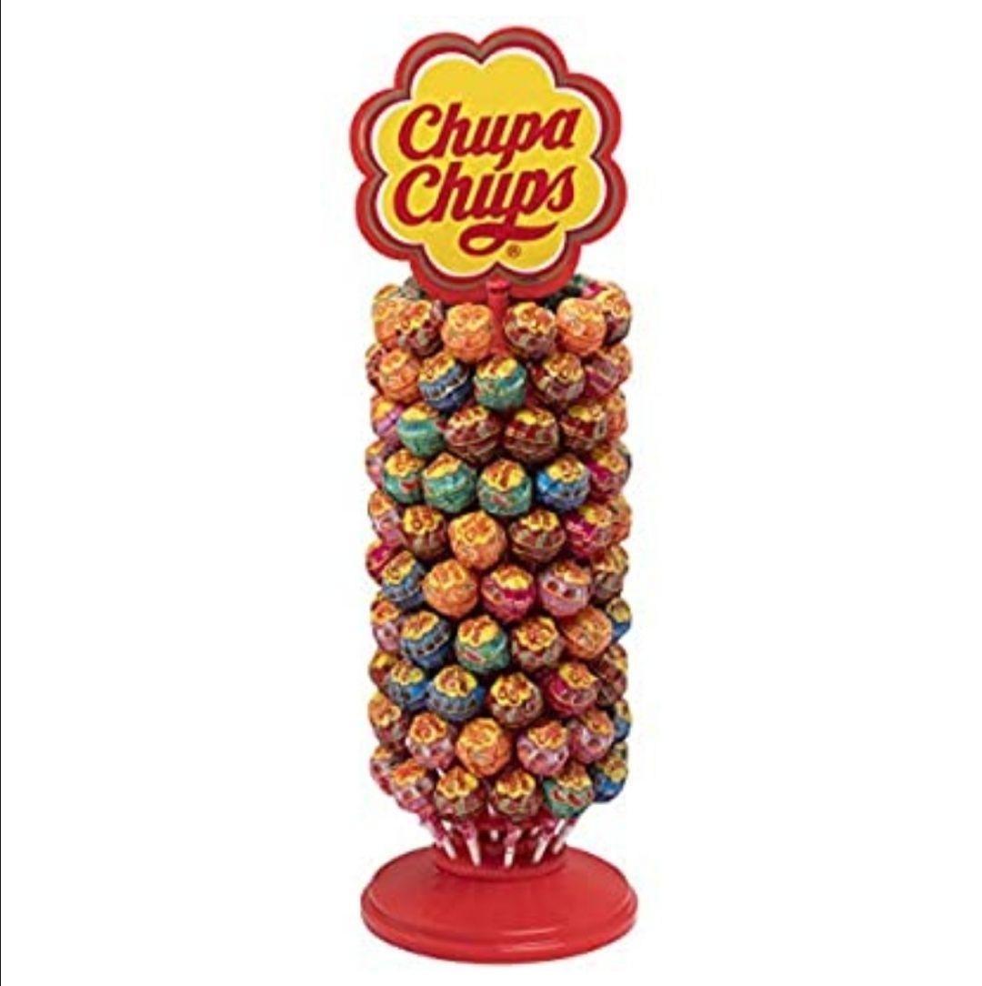 Chupa Chups Original, Caramelo con Palo de Sabores Variados, Rueda de 120 unidades de 12 gr. (Total 1.440 gr.)(compra recurrente)