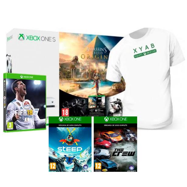 Xbox One S 1TB + 5 videojuegos