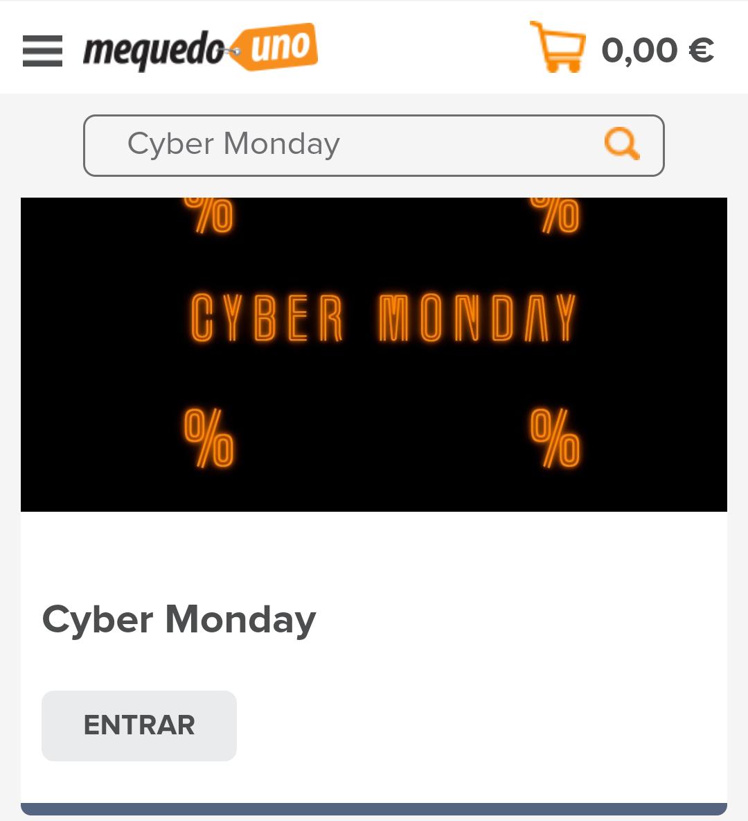 Cyber Monday en Mequedouno