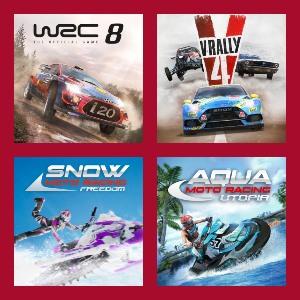 Cuatro juegos de Conducción para Nintendo Switch