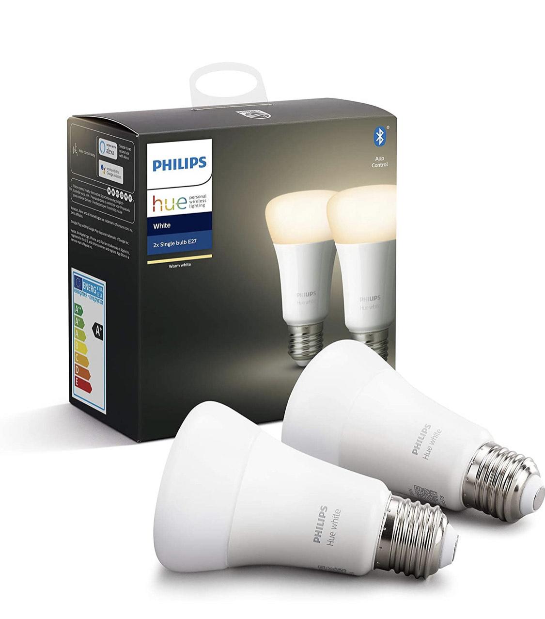 -7,01€ en pack de 2 bombillas Philips Hue
