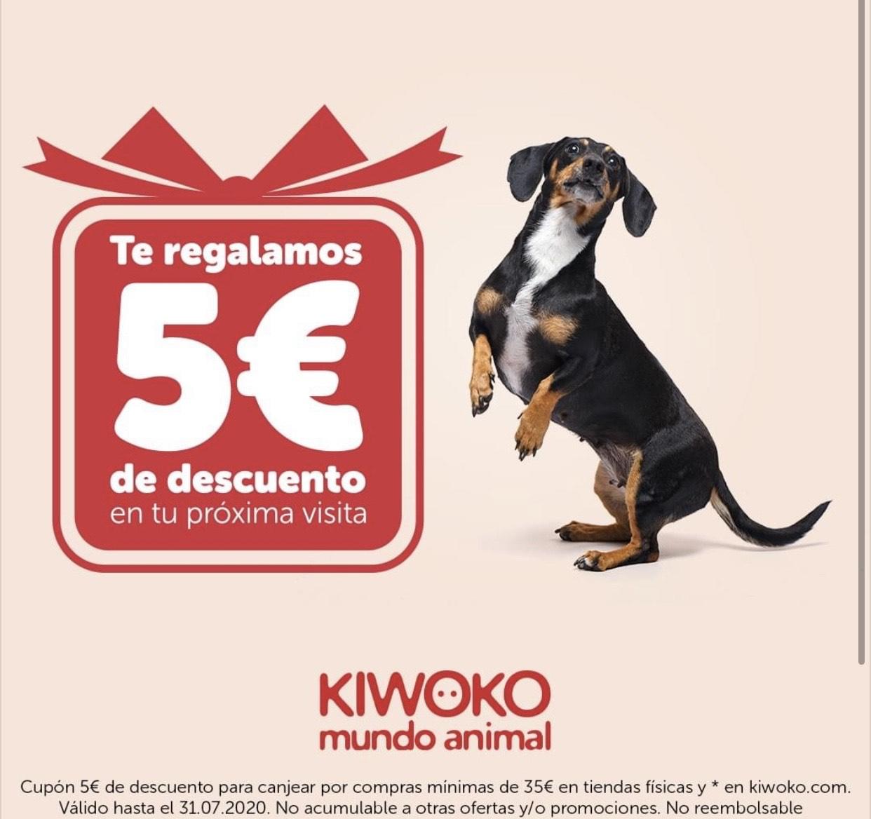-5€ de descuento en tiendas físicas Kiwoko (+35€)