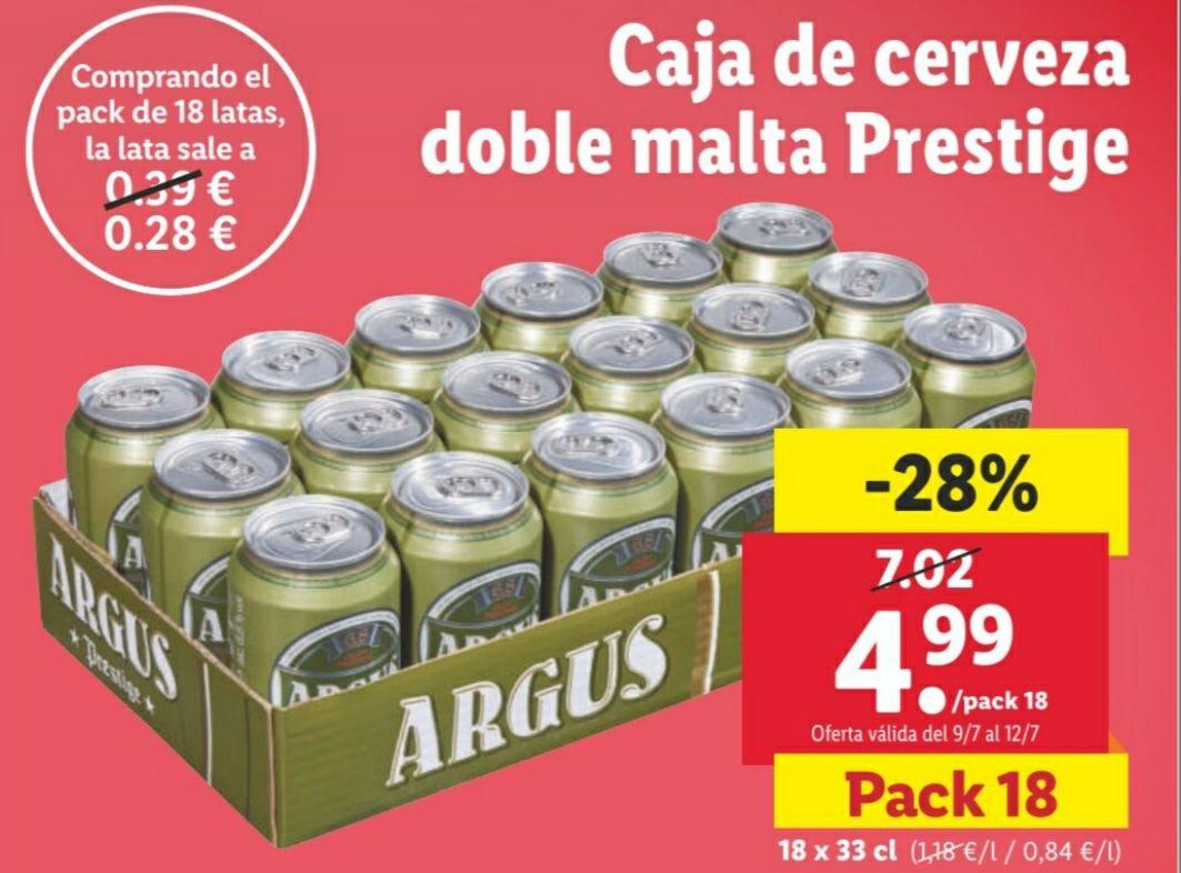 Caja de cerveza ARGUS doble malta prestige