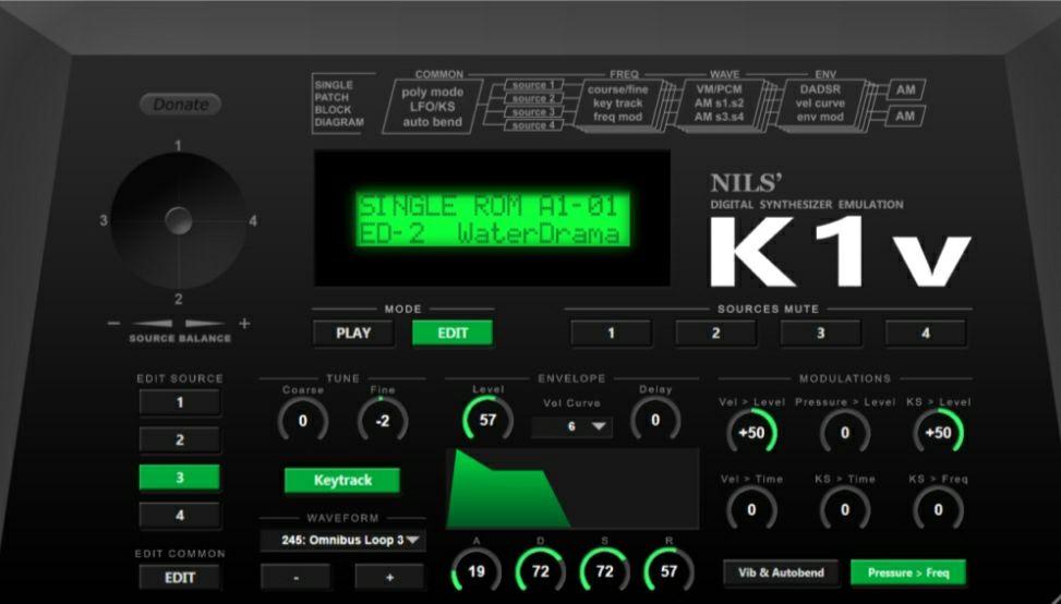 Instrumento VSTi GRATIS Windows - Nils' K1V (teclado Kawai K1)