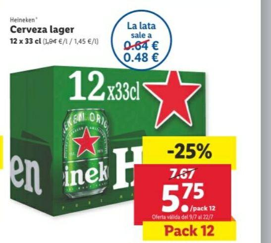 Pack de cervezas Heineken