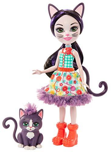 Enchantimals Muñeca Ciesta Cat con Mascota Climber