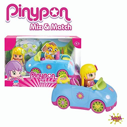 Pinypon - Muñeca, Set de Accesorios y Coche, para niños y niñas a Partir de 4 años (Famosa 700014130)