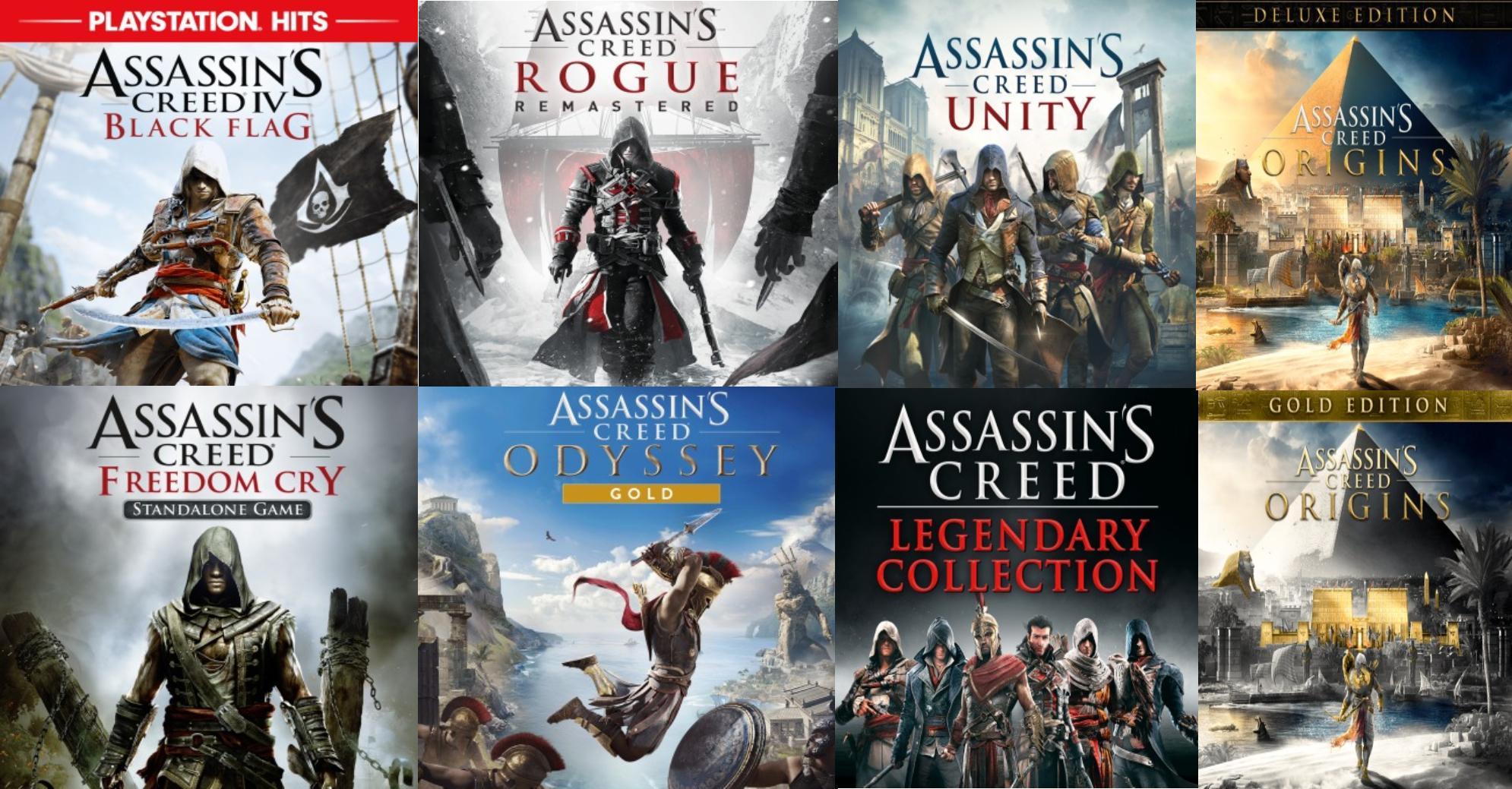 Selección de juegos PS4 Assassin's Creed en promoción. Ej: Odyssey Gold (PlayStation Stores USA y Español)