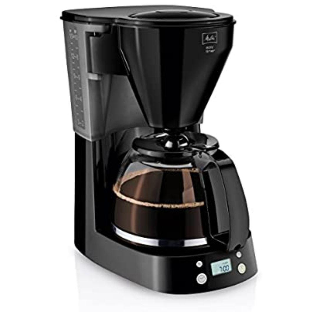 Melitta Cafetera de Goteo Easy Timer 1010-04, Función Temporizador, Programable, Mantiene el Calor, Jarra Vidrio