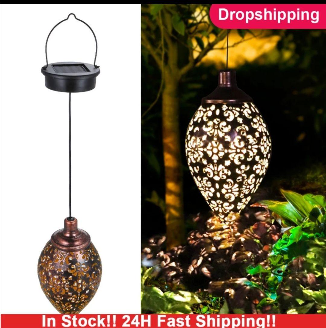 Lámpara colgante solar para jardín
